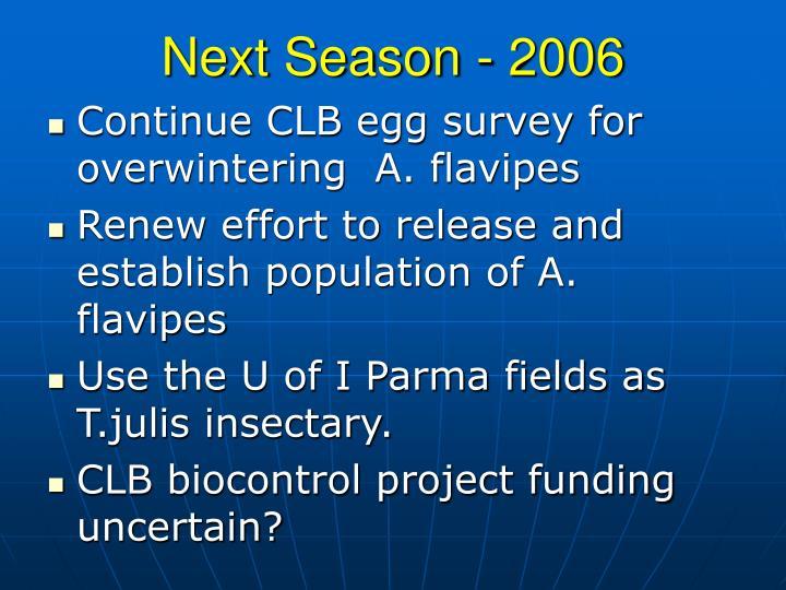Next Season - 2006