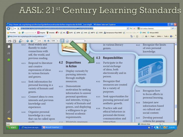 Aasl 21 st century learning standards