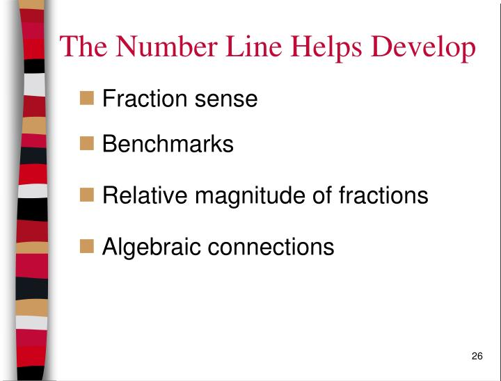 The Number Line Helps Develop