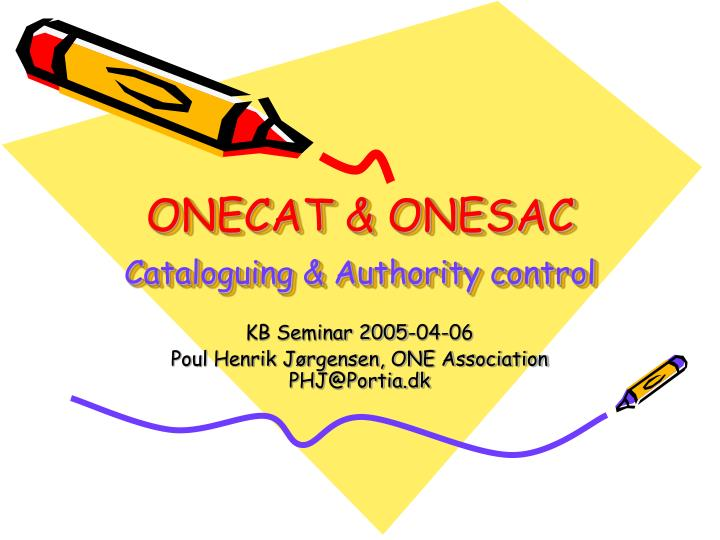 Onecat onesac cataloguing authority control