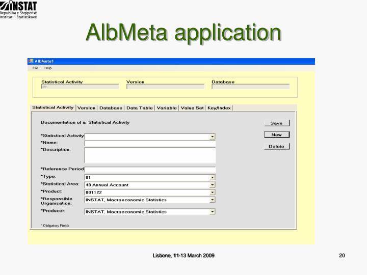 AlbMeta application