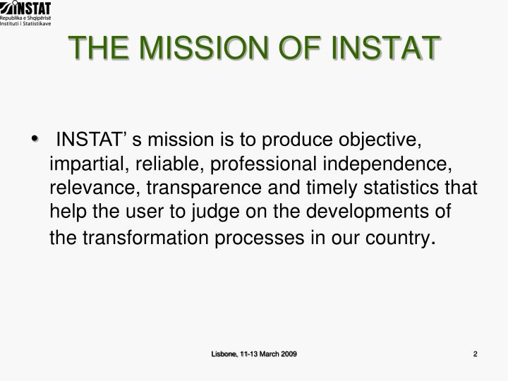 The mission of instat