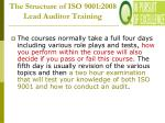 the structure of iso 9001 2008 lead auditor training