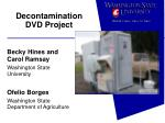 decontamination dvd project