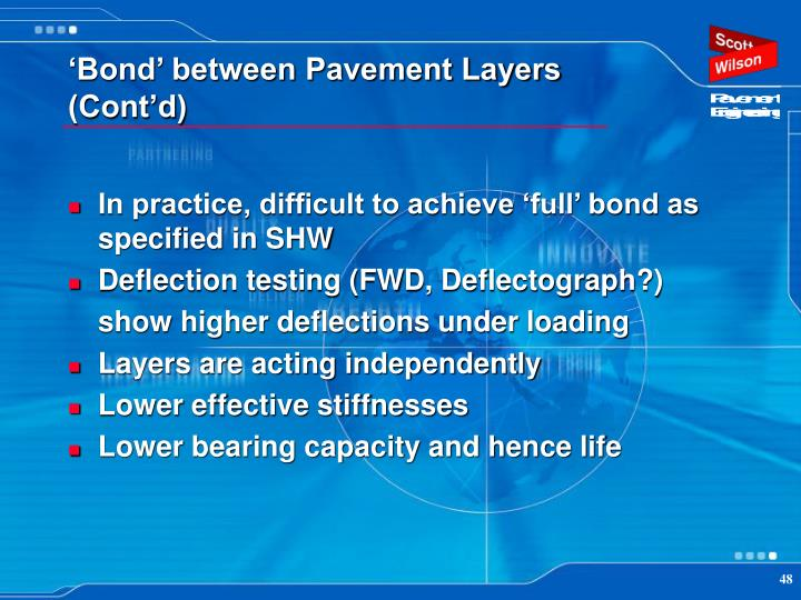 'Bond' between Pavement Layers (Cont'd)