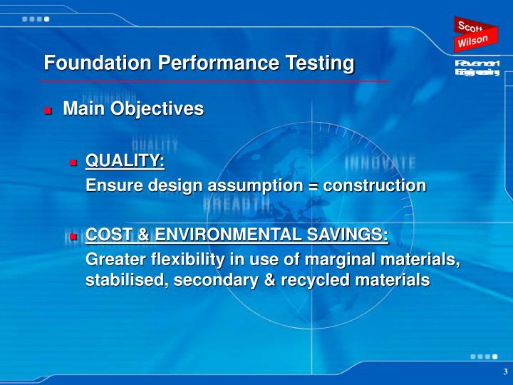 Foundation performance testing