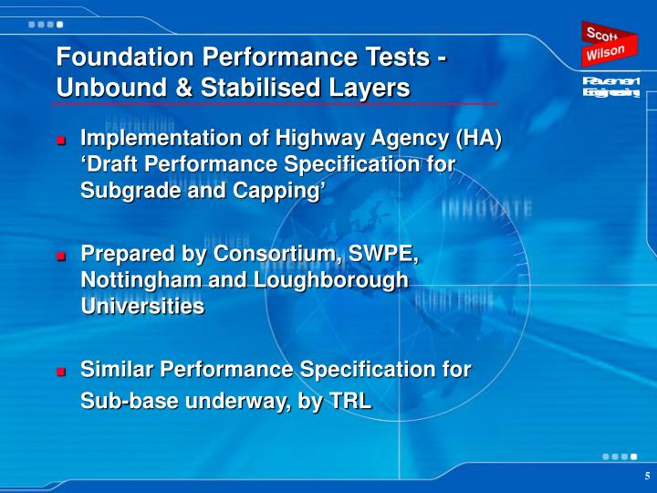 Foundation Performance Tests - Unbound & Stabilised Layers