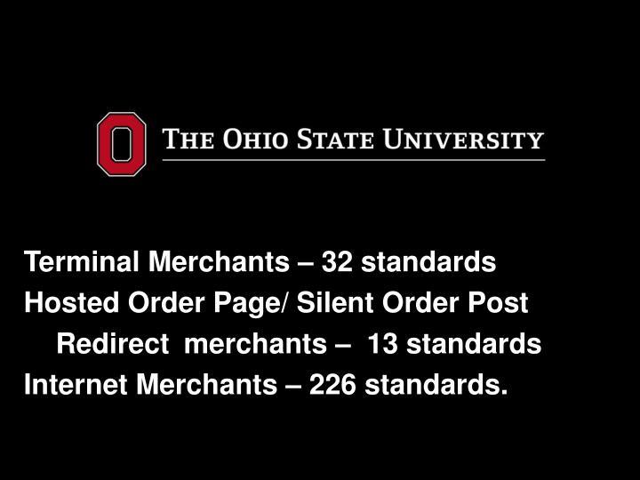 Terminal Merchants – 32 standards