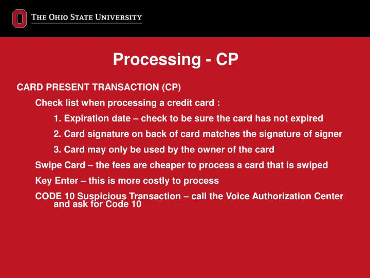 Processing - CP