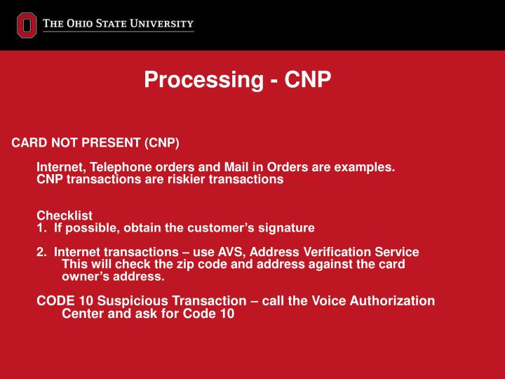 Processing - CNP