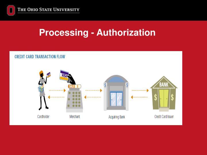 Processing - Authorization
