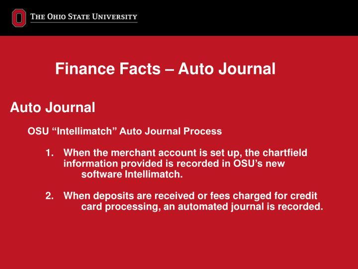 Finance Facts – Auto Journal