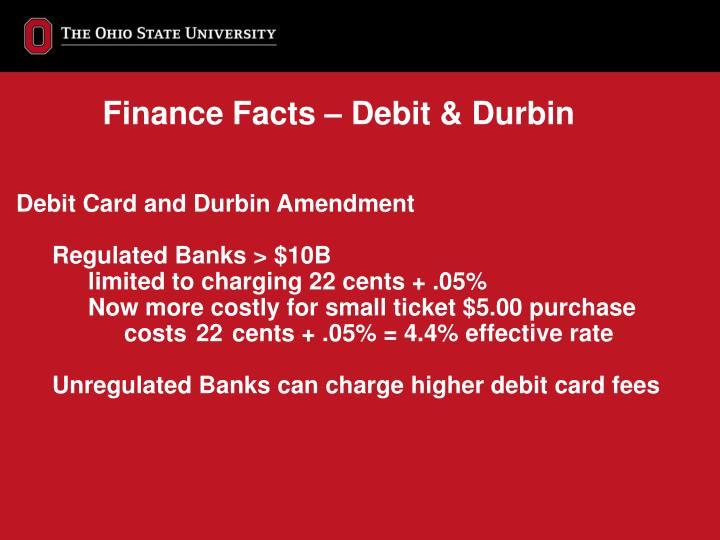 Finance Facts – Debit & Durbin