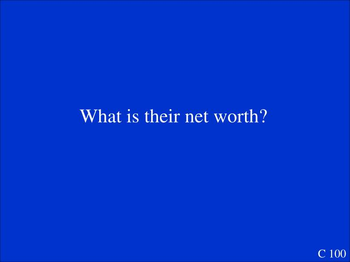 What is their net worth?