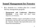 sound management for forestry4