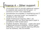finance 4 other support