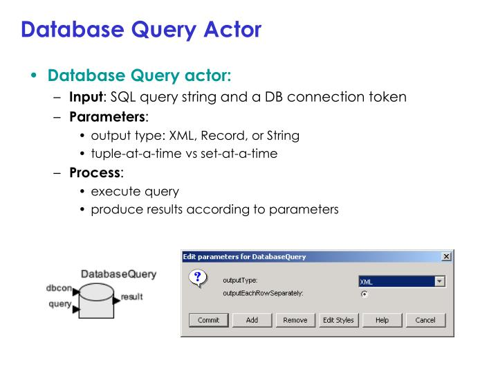 Database Query Actor