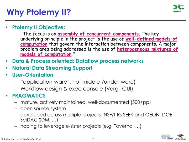 Why Ptolemy II?