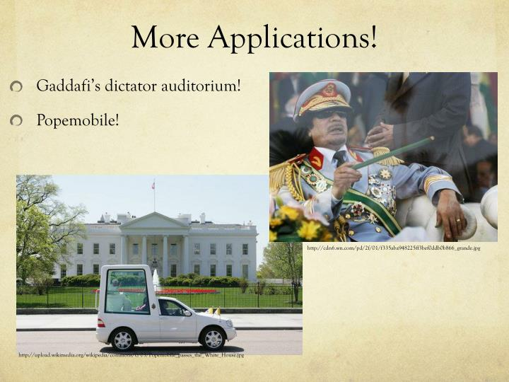 More Applications!