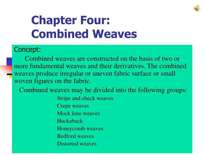 chapter four combined weaves n.