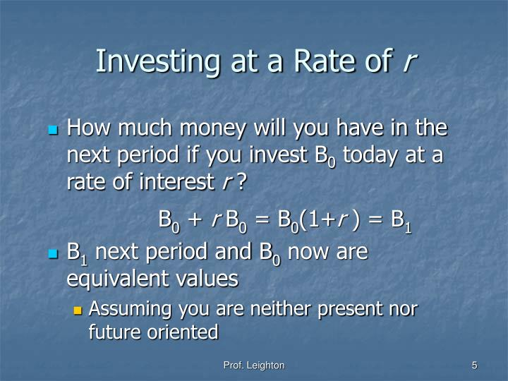 Investing at a Rate of