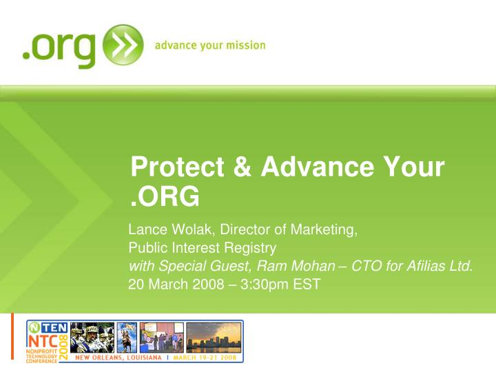 Protect advance your org