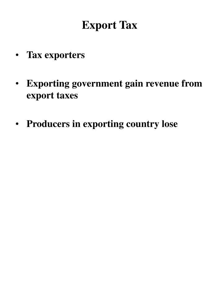Export Tax