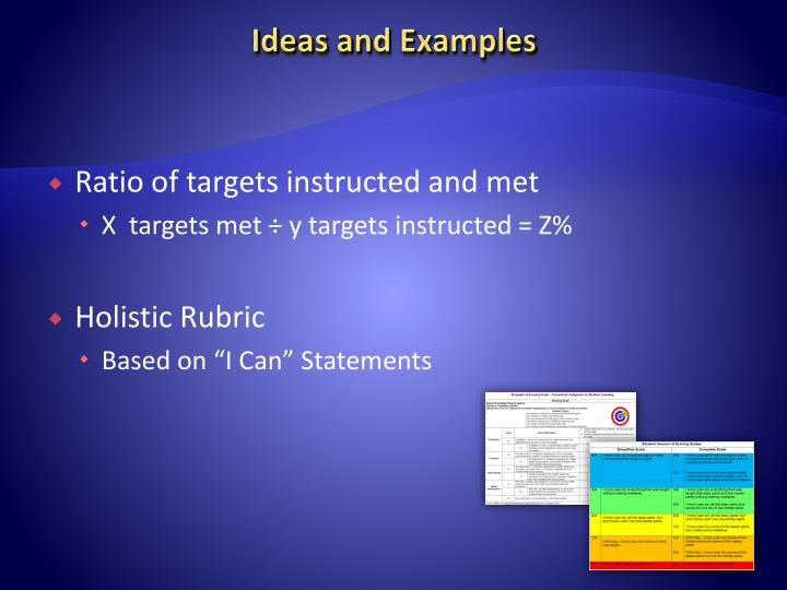 Ideas and Examples