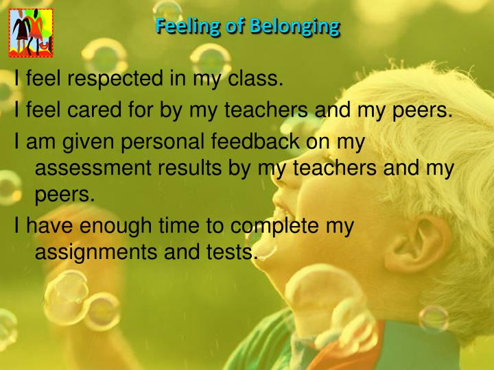 Feeling of Belonging
