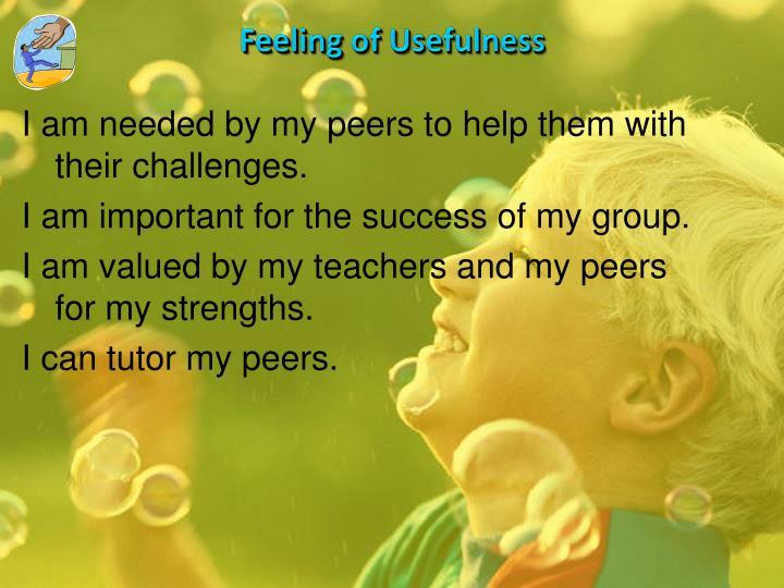 Feeling of Usefulness