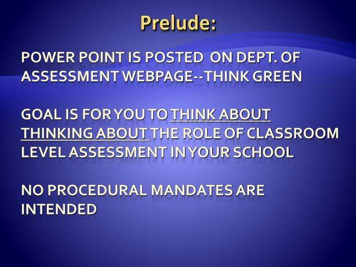 Prelude: