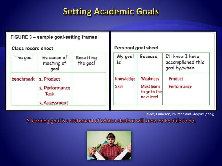 Setting Academic Goals