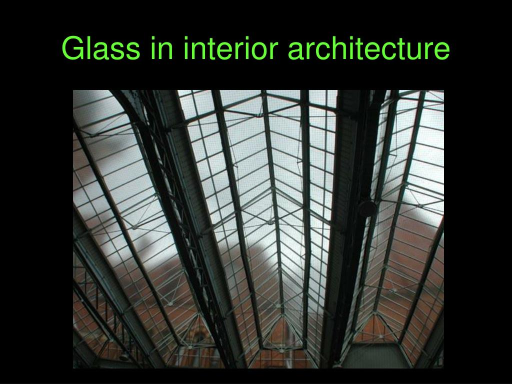 glass in interior design ppt slides
