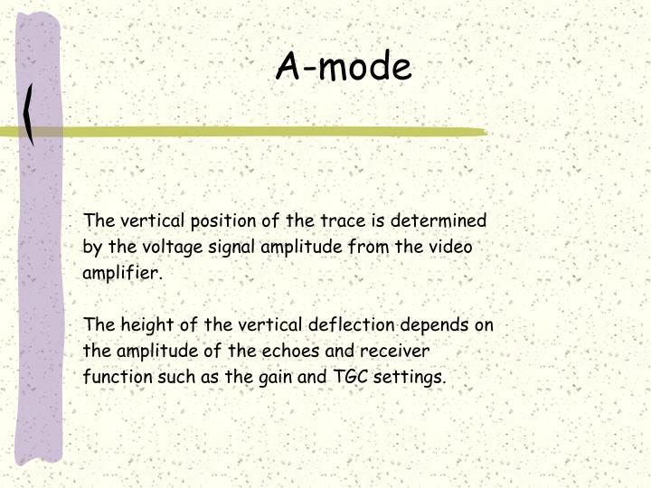 A-mode
