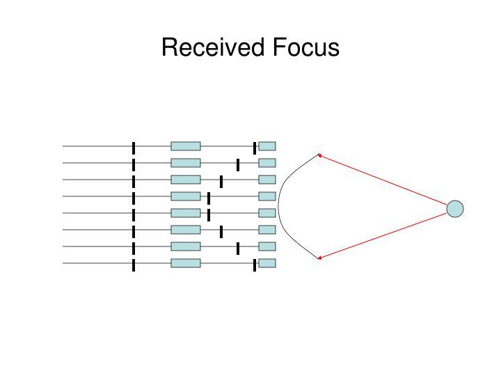 Received Focus