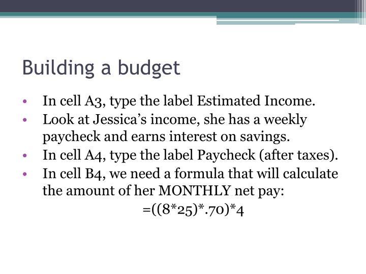Building a budget1