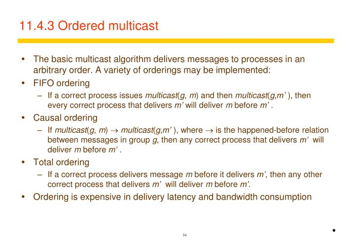 11.4.3 Ordered multicast