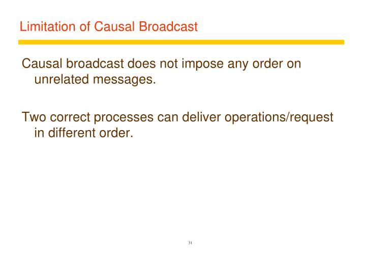 Limitation of Causal