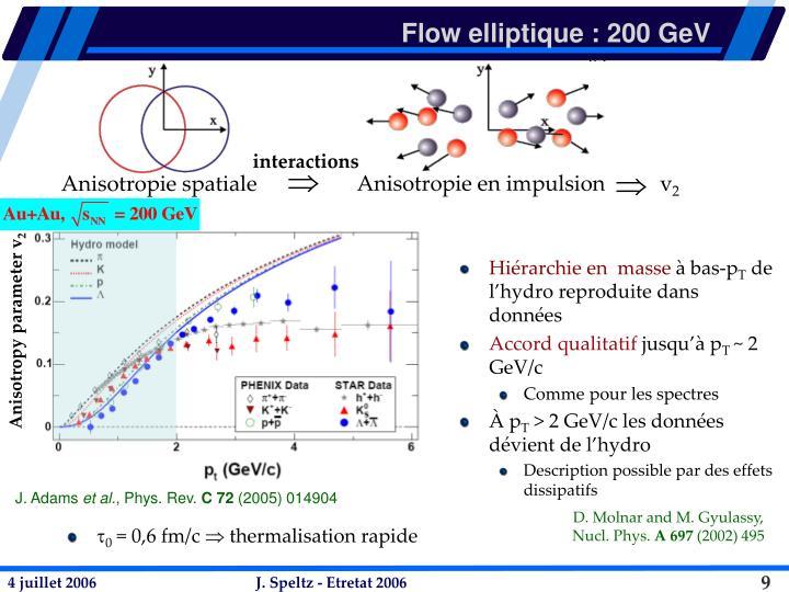 Flow elliptique