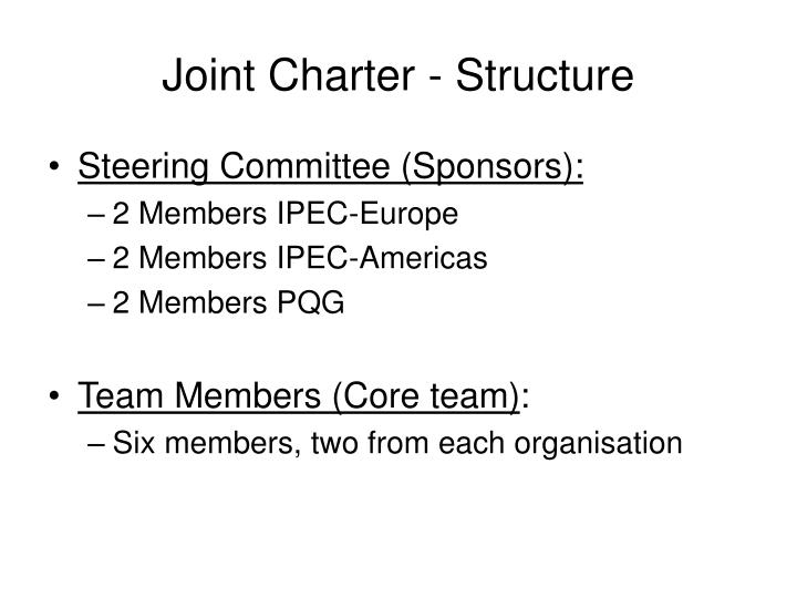 Joint Charter - Structure