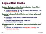 logical disk blocks