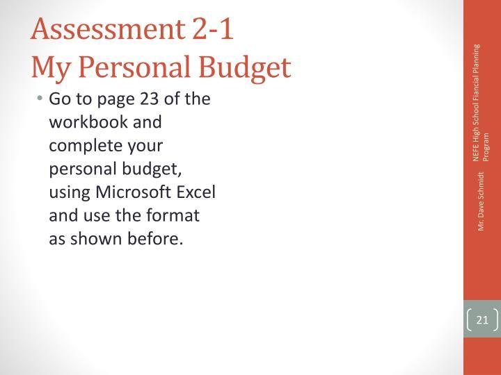 Assessment 2-1