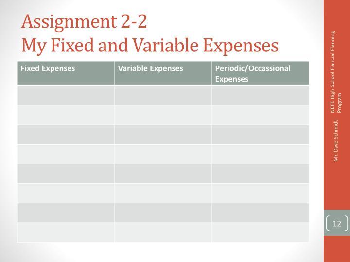 Assignment 2-2