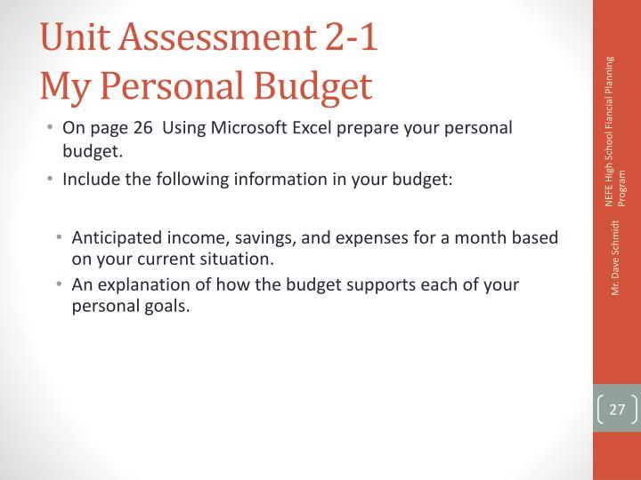 Unit Assessment 2-1