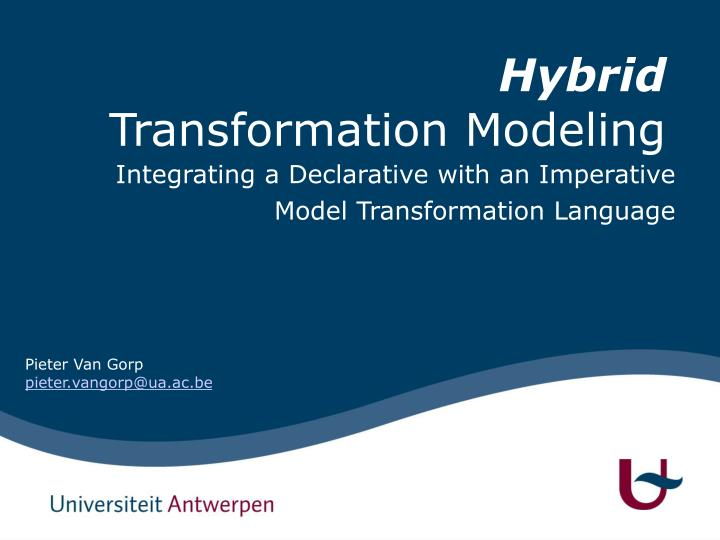 integrating a declarative with an imperative model transformation language n.