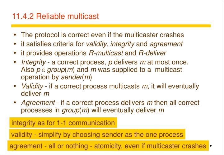 11.4.2 Reliable multicast