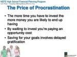 the price of procrastination