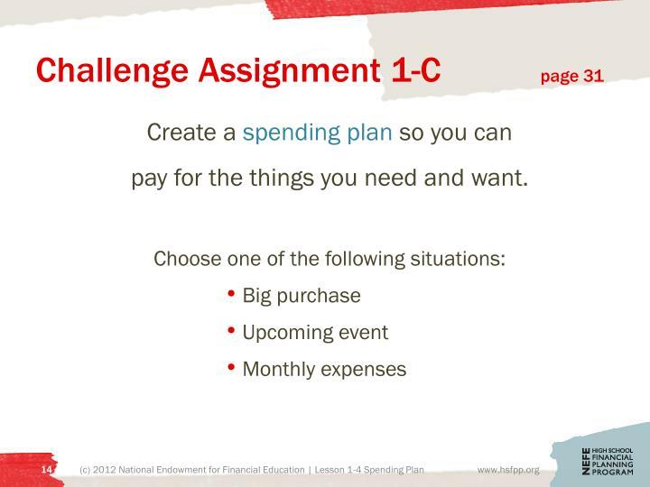 Challenge Assignment 1-C