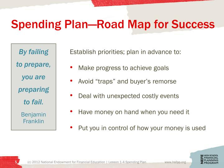 Spending Plan—Road Map for Success
