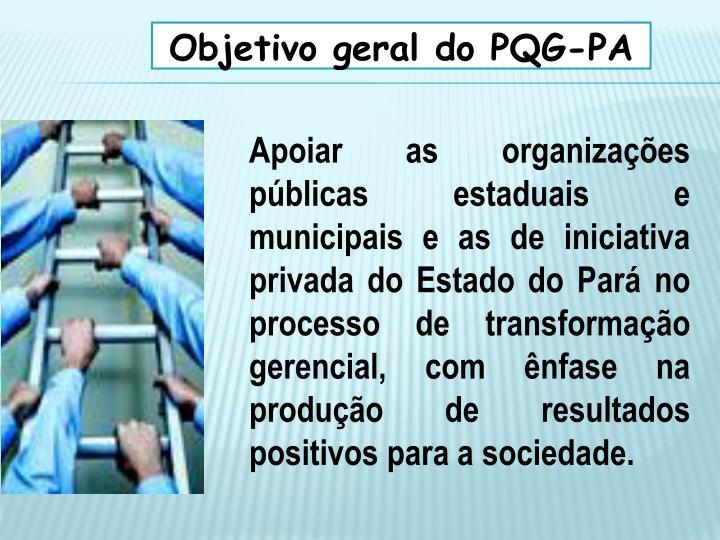Objetivo geral do PQG-PA